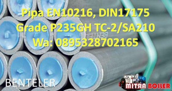 Pipa EN 10216 Grade P235GH TC-2/SA210